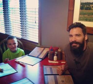 Dad and Hunter. What a pair!